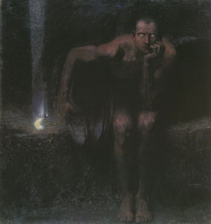stuck Lucifer Painted circa 1890