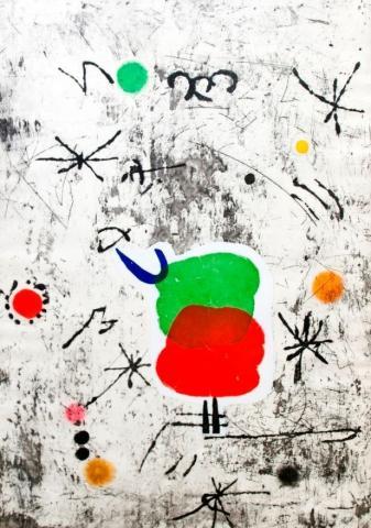 Huan-MiroPersonatges-i-estels-1979-kolaz-drvorez-i-akvatinta-90x625