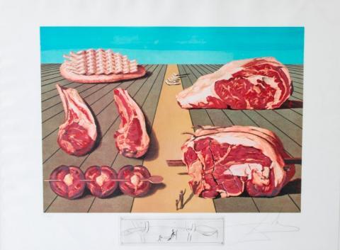 Salvador-Dali-Les-Diners-de-Gala-1977-litografija-gravura-75x55cm