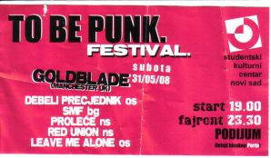 To Be Punk subota 2008