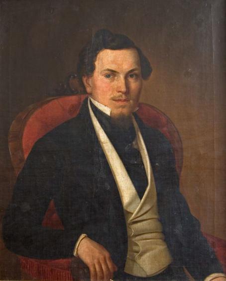 Pavle-Simic - Portret-muskarca-u-belom-prsluku